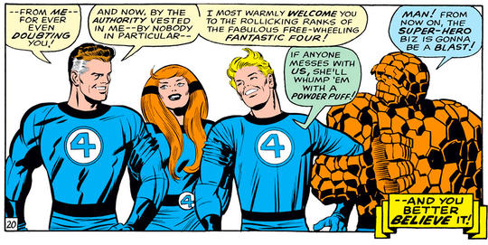 Fighting alongside the Fantastic Four