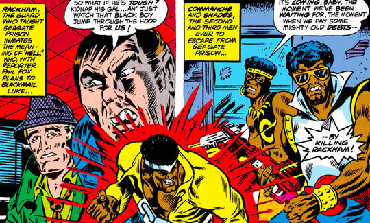 Shades teaming up with Comanche to fight Luke Cage