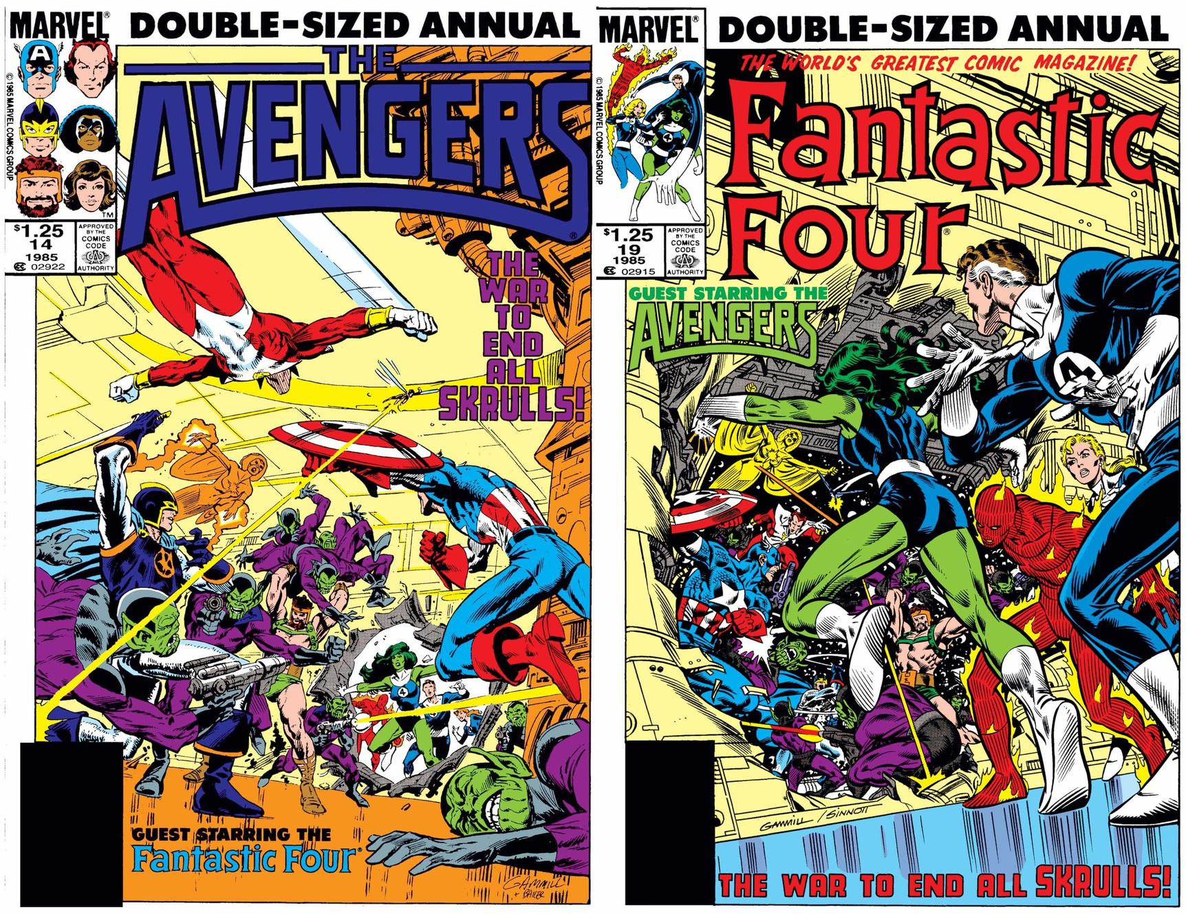 AVENGERS ANNUAL (1967) #14 and FANTASTIC FOUR ANNUAL (1963) #19