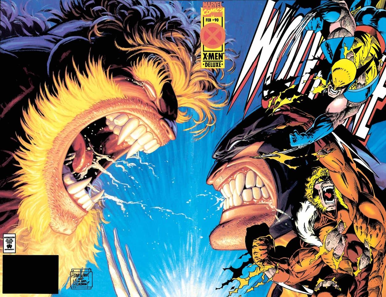 WOLVERINE (1988) #90 cover by Adam Kubert, Greg Hildebrandt, and Tim Hildebrandt