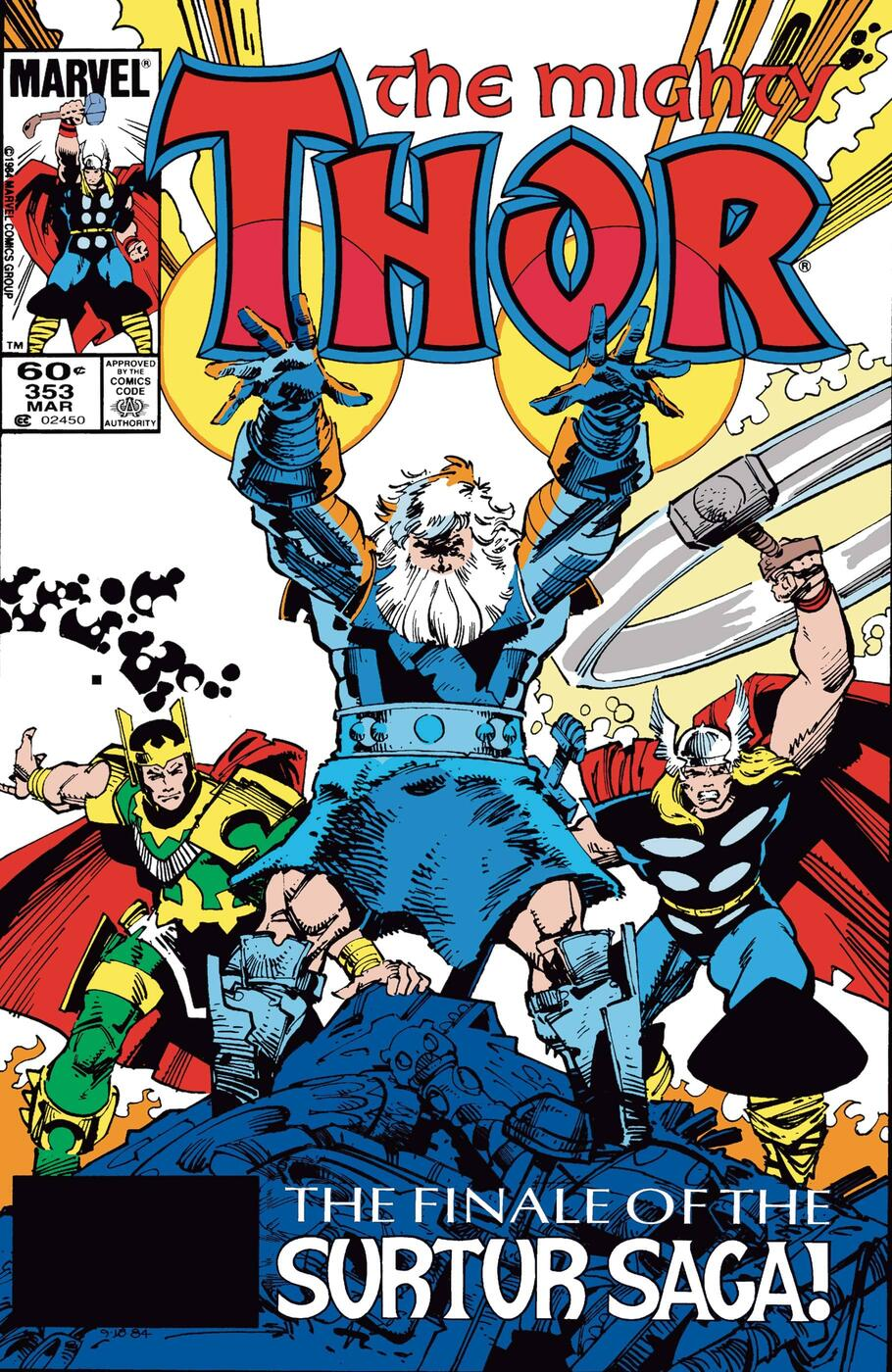 Thor (1966) #353 cover by Walter Simonson