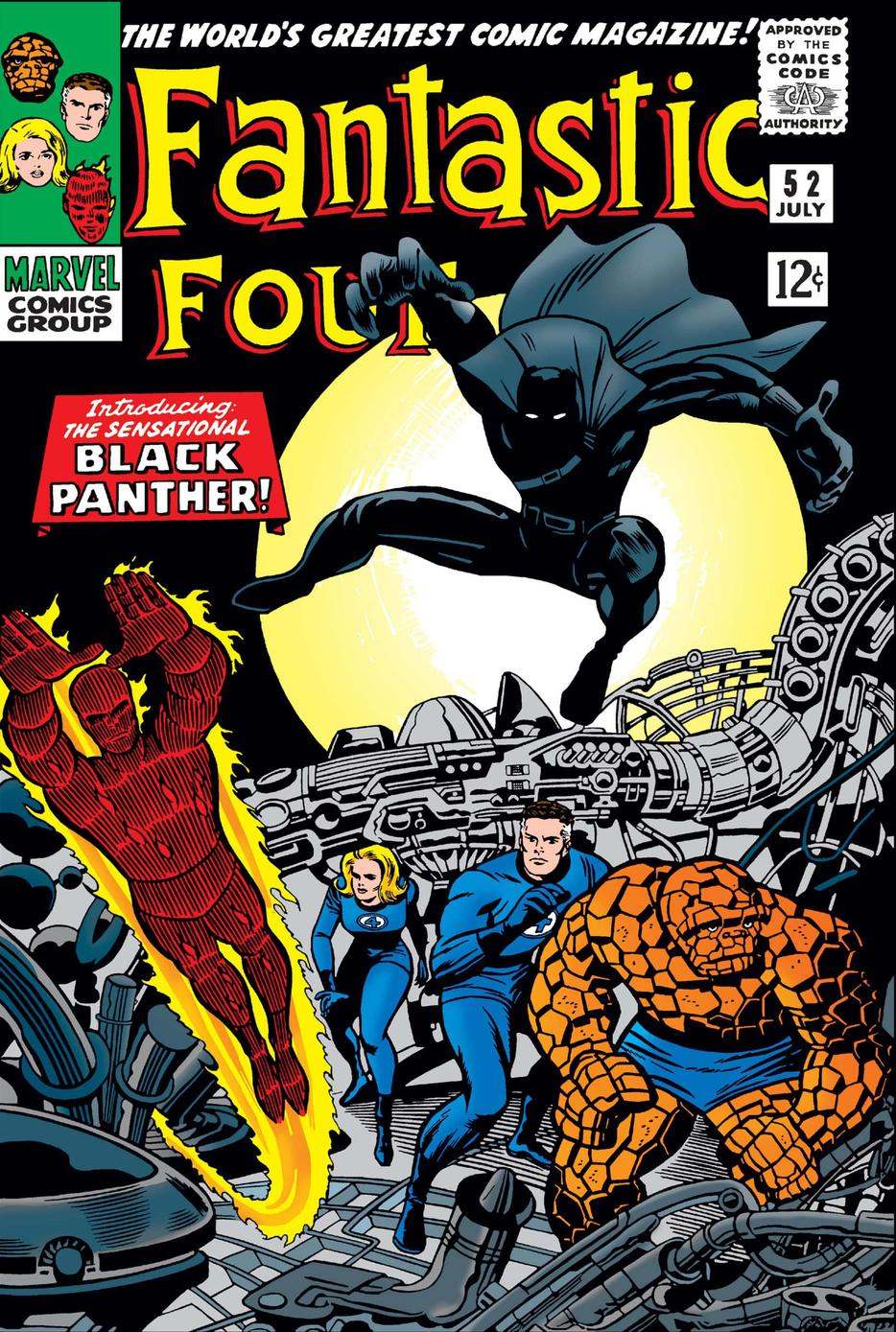 FANTASTIC FOUR (1961) #52, the first appearance of Black Panther