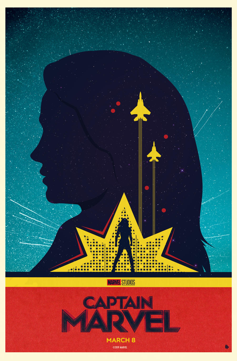Captain Marvel Poster Art by Matt Needle