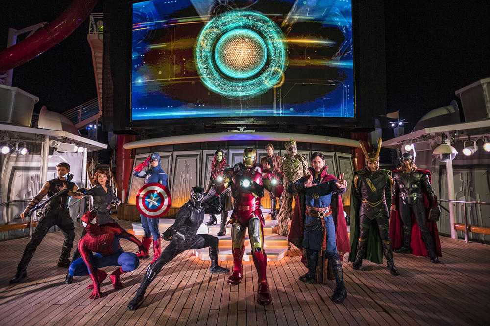 Marvel Super Heroes on the Disney Cruise Line's Marvel Day at Sea