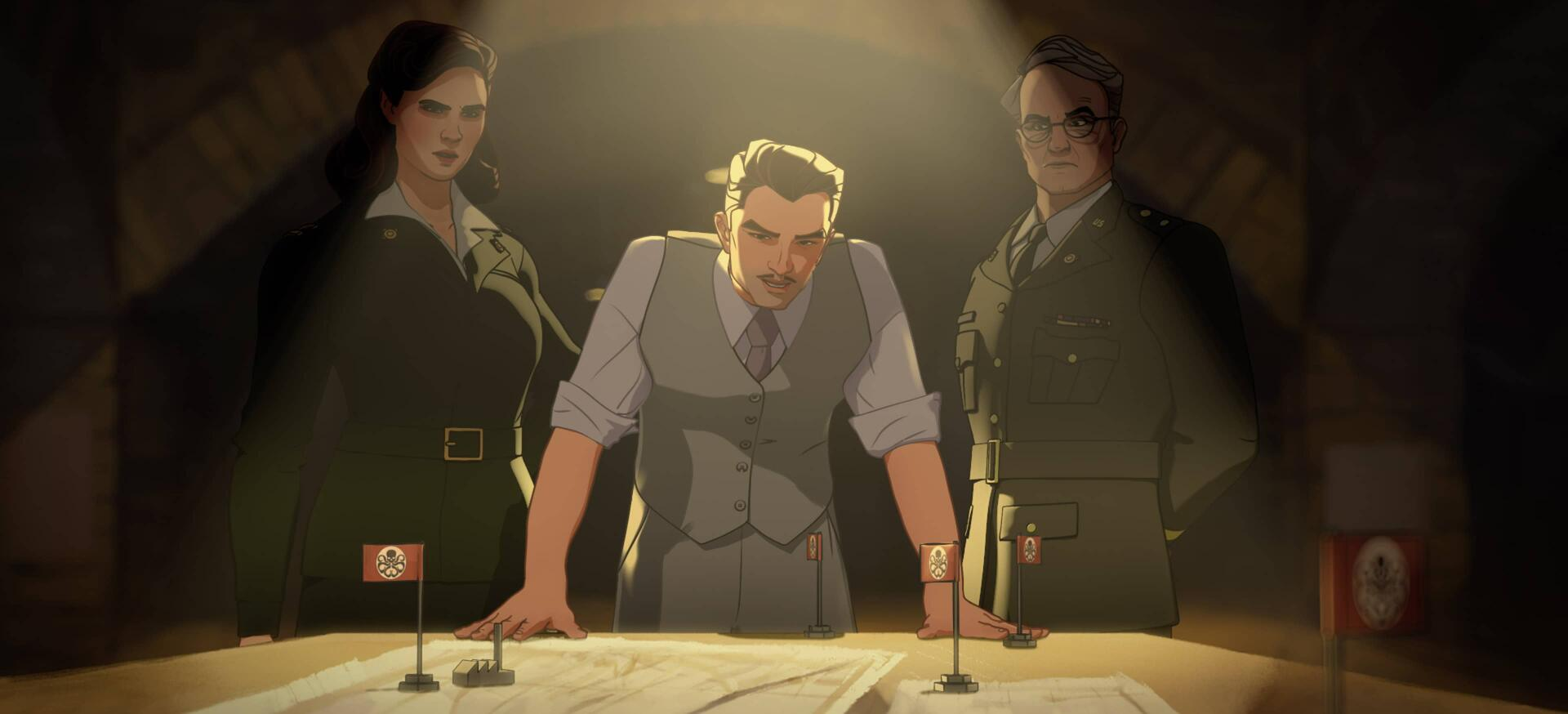 Peggy Carter, Howard Stark, Colonel Flynn | What If...?