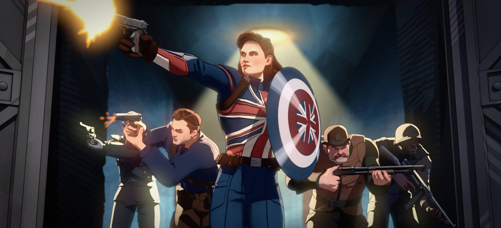 What If...? Captain Carter, Bucky Barnes, and Howling Commandos