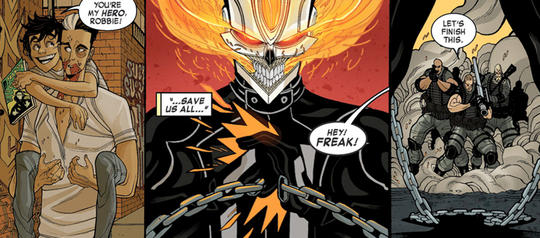 Ghost Rider thinking of his brother Gabe