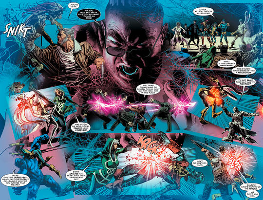 As an Omega-level mind bender, the Shadow King is almost unbeatable. He gives the X-Men a fair fight.
