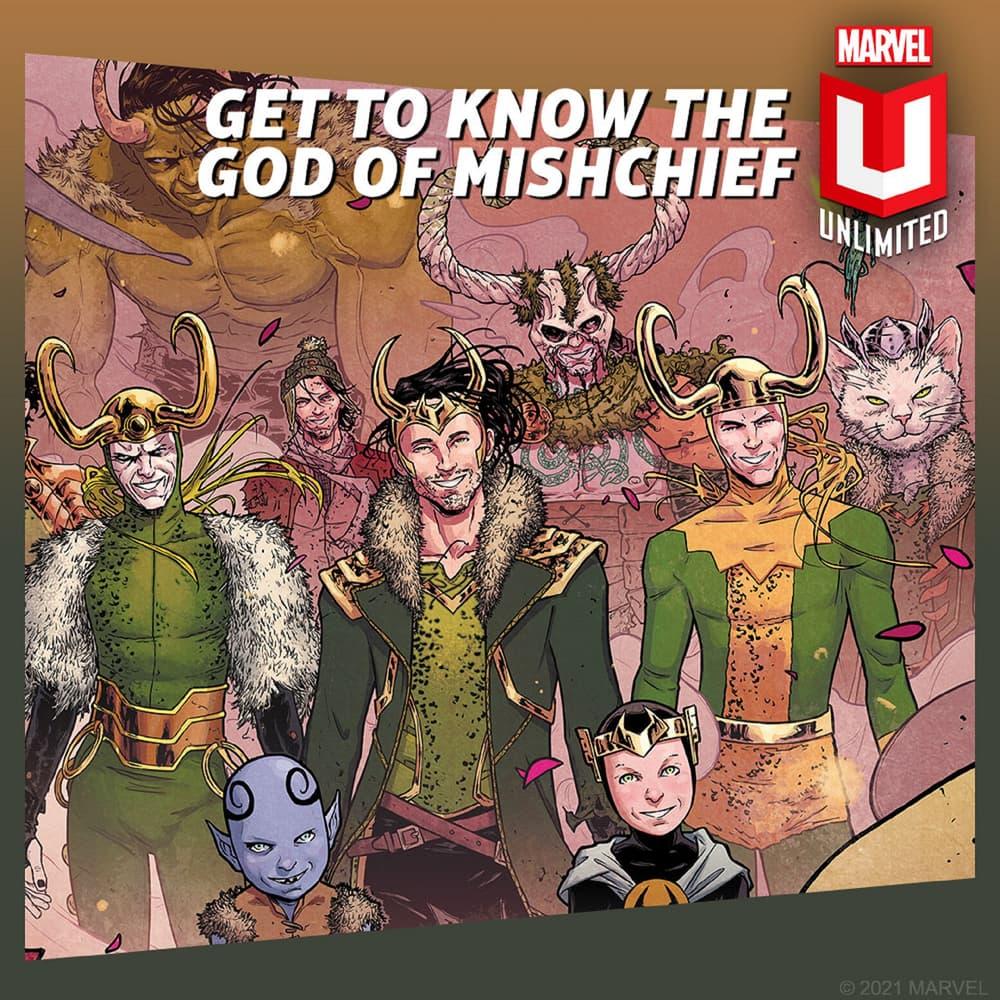 Read Loki comics on Marvel Unlimited.