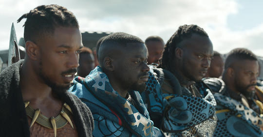 Killmonger and W'Kabi