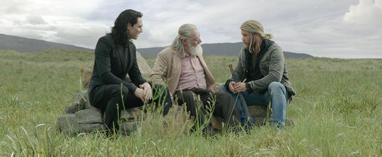Odin with Thor (Thor Odinson) and Loki
