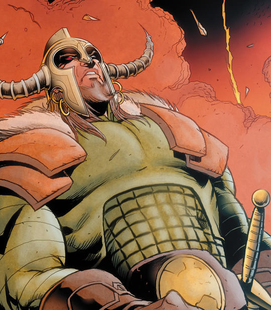 Heimdall, the Bifrot's guardian and Sentry of Asgard