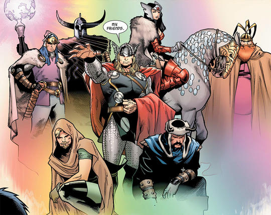 Thor and his friends