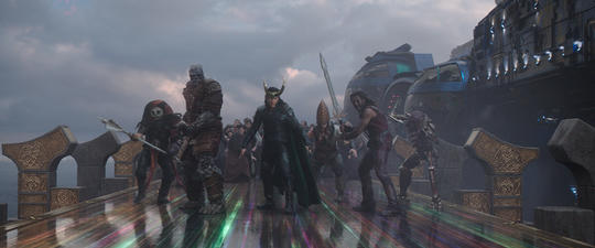 Heimdall Prepared for Battle on the Bifrost