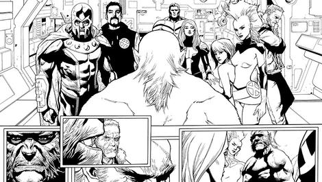 Image for Leinil Francis Yu Sparks the Inhumans Vs. X-Men Conflict