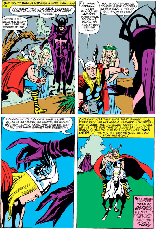 Thor rescuing Sif From Hela