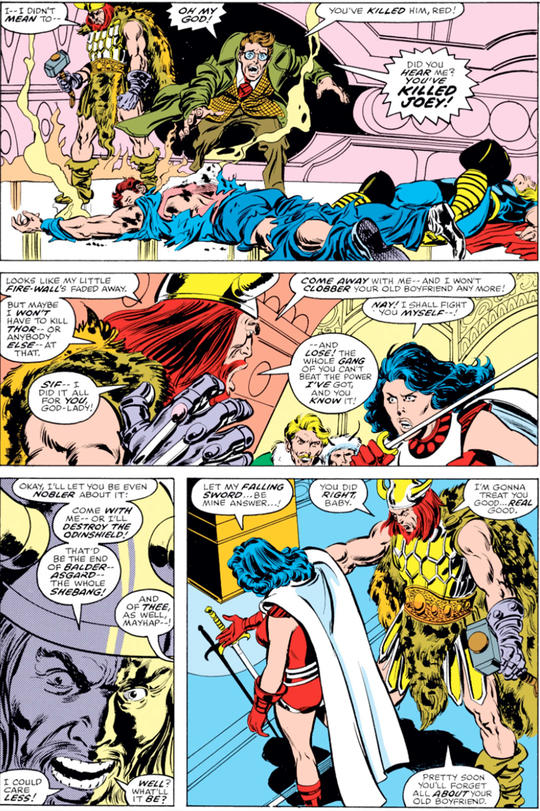 Sif gives in to Norvell to save the lives of others