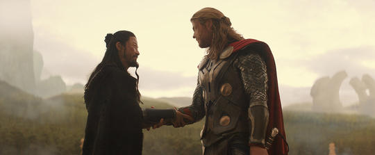 Hogun with Thor