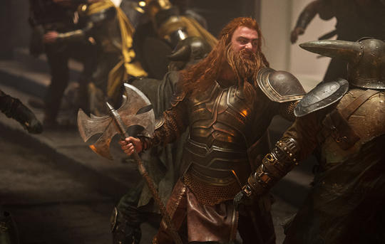 Volstagg in the heat of battle