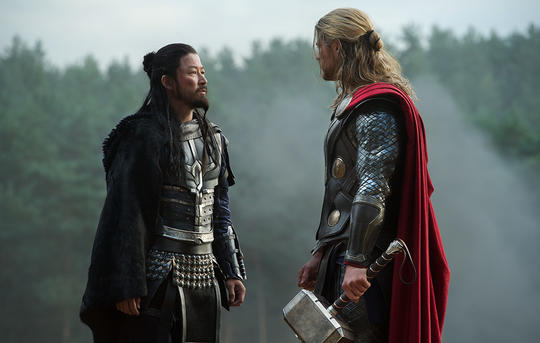 Hogun and Thor (Thor Odinson)