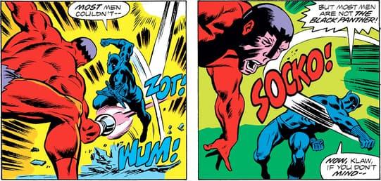 Klaw comic panel