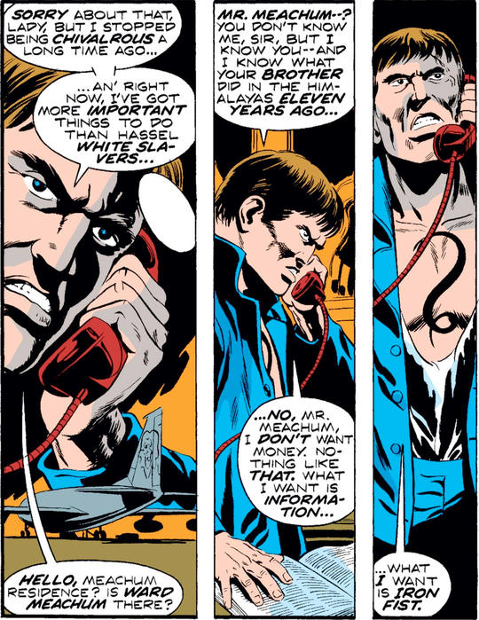 Steel Serpent arrives in New York City to make contact with Ward Meachum and find Iron Fist.