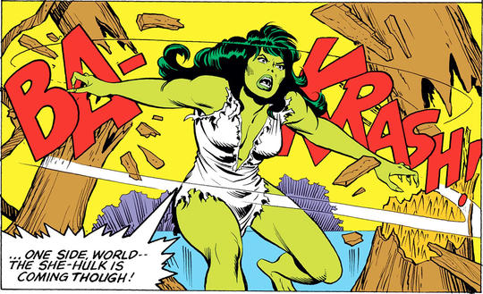 SAVAGE SHE-HULK (1980) #8, p. 16, bottom panel