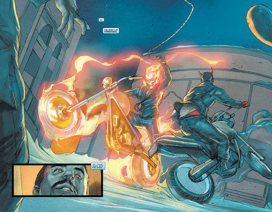 Ghost Rider in action