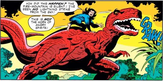 Devil Dinosaur roaring