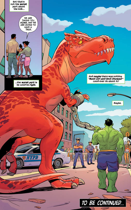 Devil Dinosaur and The Hulk