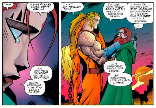 Sabretooth asks Blink to teleport him