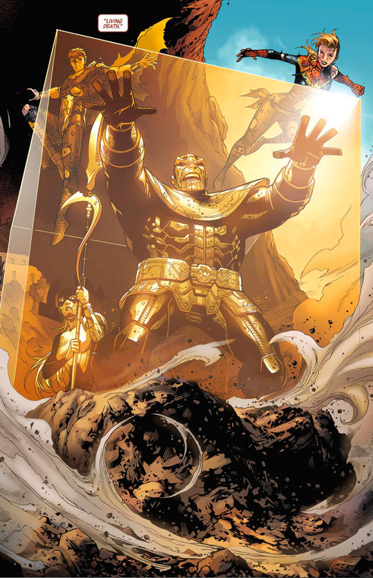 Maw turns against Thanos at a critical moment and allows Thane to imprison the Mad Titan.