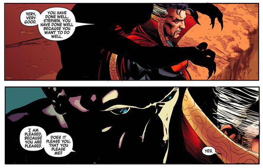 Maw used his powers to enslave Doctor Strange.