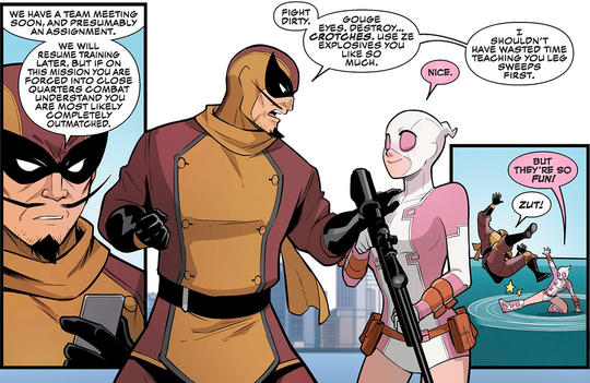 Gwenpool and Batroc the Leaper