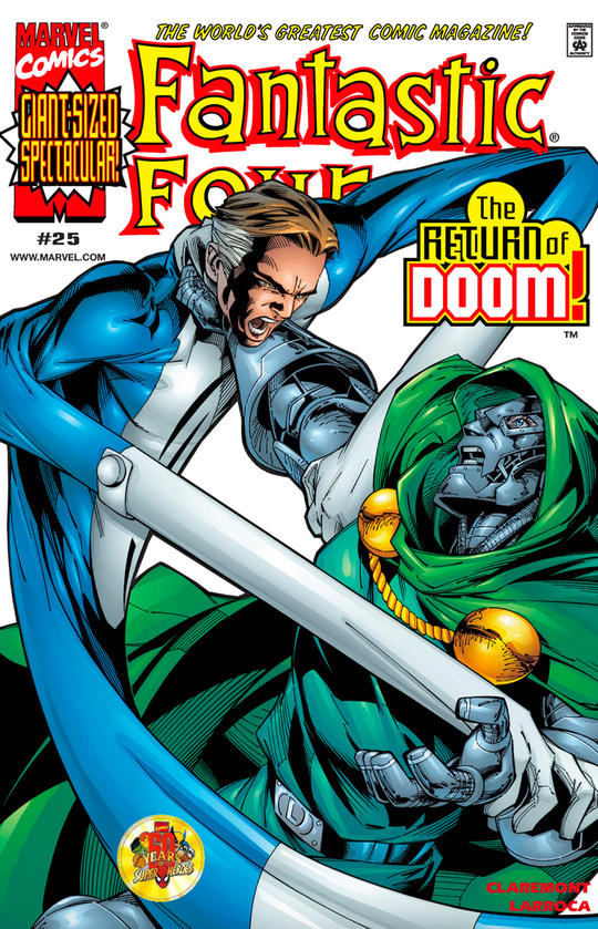 Mr. Fantastic fights Doctor Doom