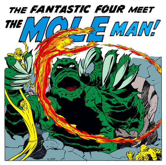 The Fantastic Four versus The Mole Man