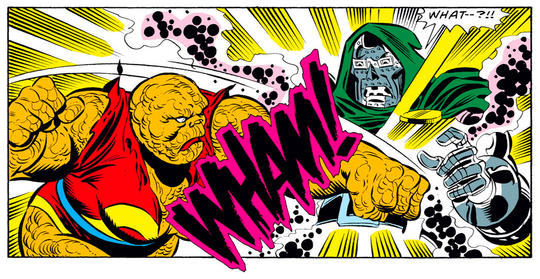 Thing fights Doctor Doom