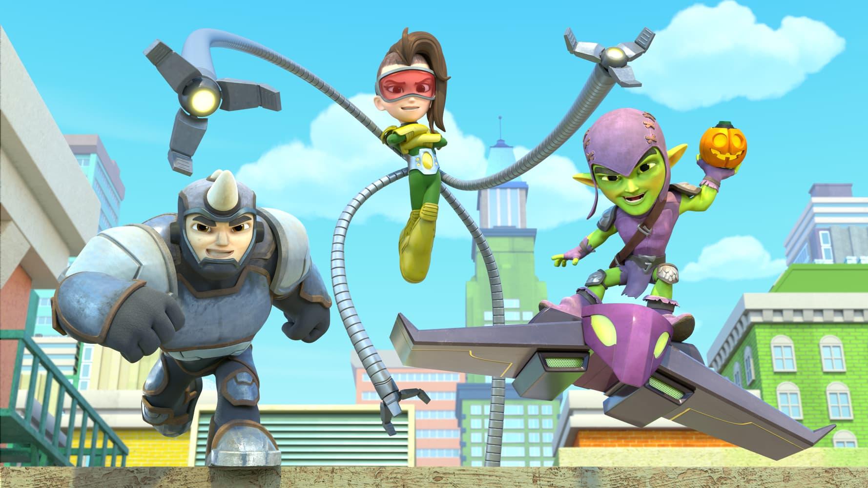 Rhino, Doc Ock, Green Goblin   Marvel's Spidey and his Amazing Friends