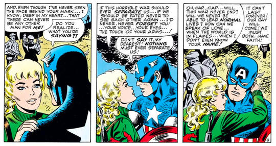 Peggy and Cap share a romantic bond.
