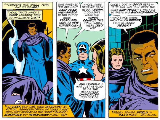 Peggy and Gabe discuss their past with Cap.