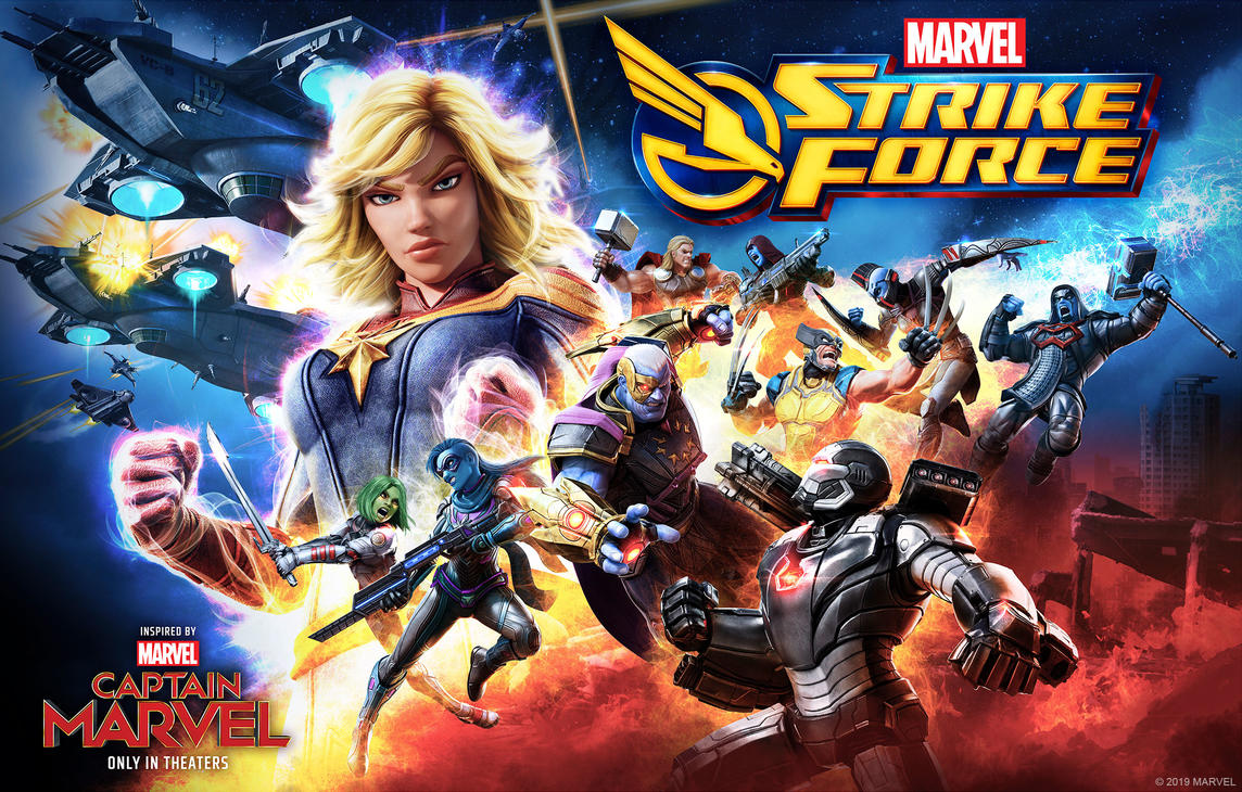 Marvel Strike Force - Captain Marvel