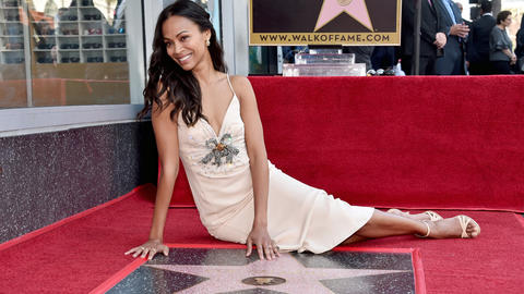 Image for Avengers: Infinity War Star Zoe Saldana Honored With Star On Hollywood Walk Of Fame