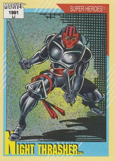 1991 Impel Marvel Universe Trading Card #22 Night Thrasher Official Marvel Character Card Front