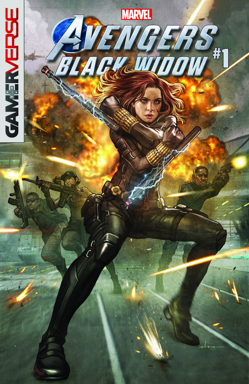 MARVEL'S AVENGERS: BLACK WIDOW #1 written by Christos Gage with art by Michele Bandini and cover by STONEHOUSE