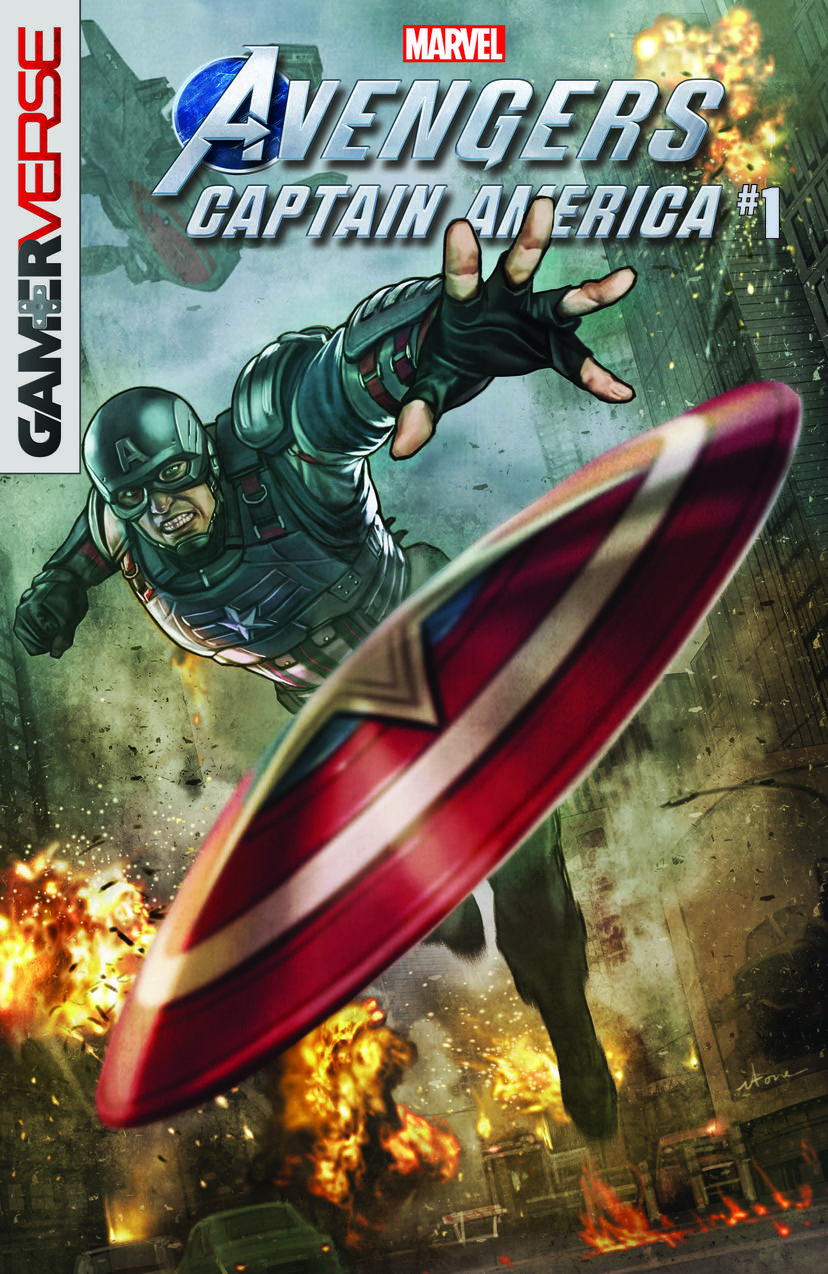 MARVEL'S AVENGERS: CAPTAIN AMERICA #1 written by PAUL ALLOR with art by Georges Jeanty and cover by STONEHOUSE