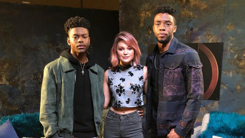 Image for Marvel's Cloak & Dagger's Aubrey Joseph and Olivia Holt Sit Down with Chadwick Boseman