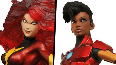 Image for Exclusive: SDCC Dark Phoenix and Ironheart Sculptures