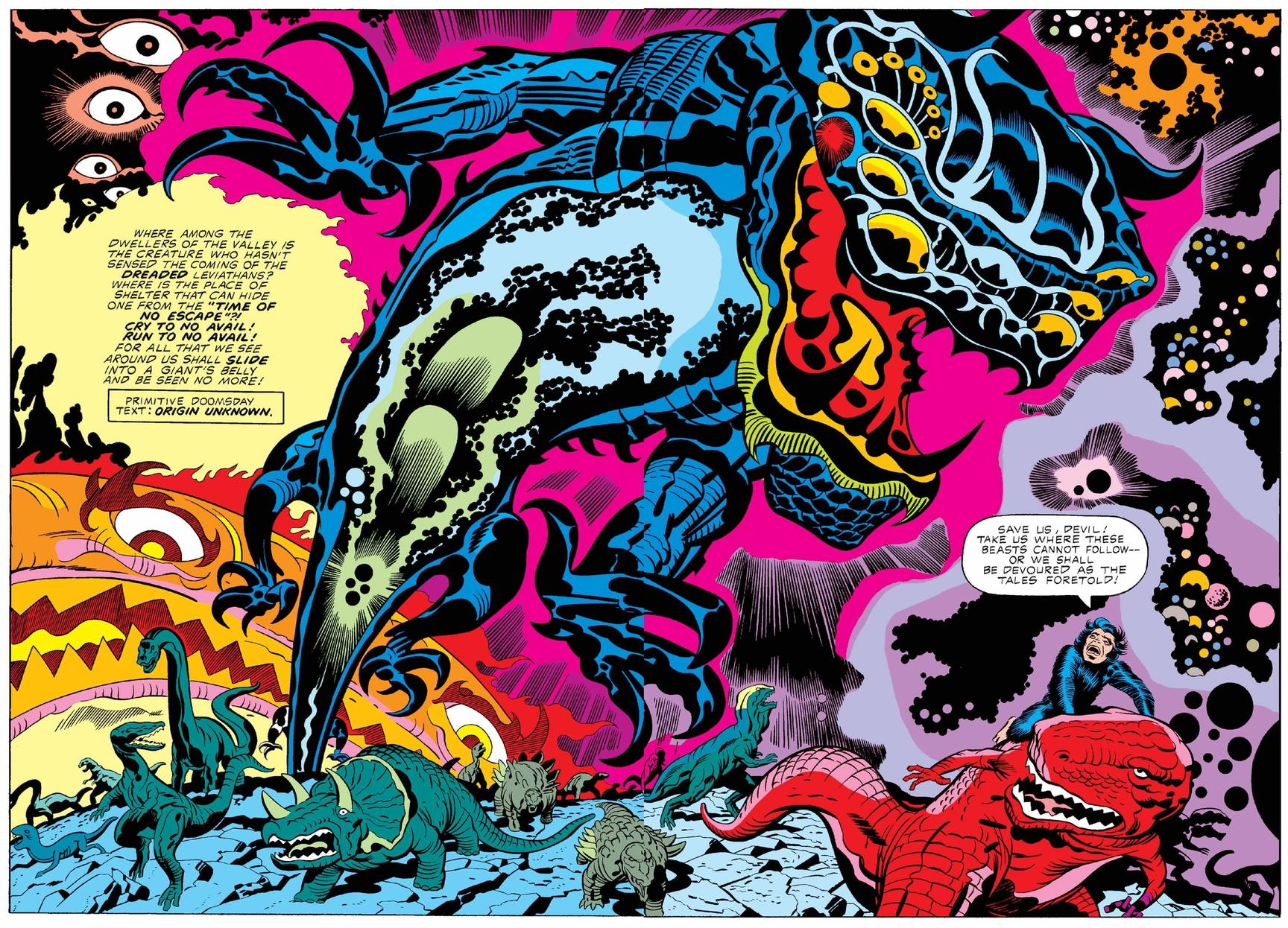 DEVIL DINOSAUR (1978) #4, PAGES 2-3