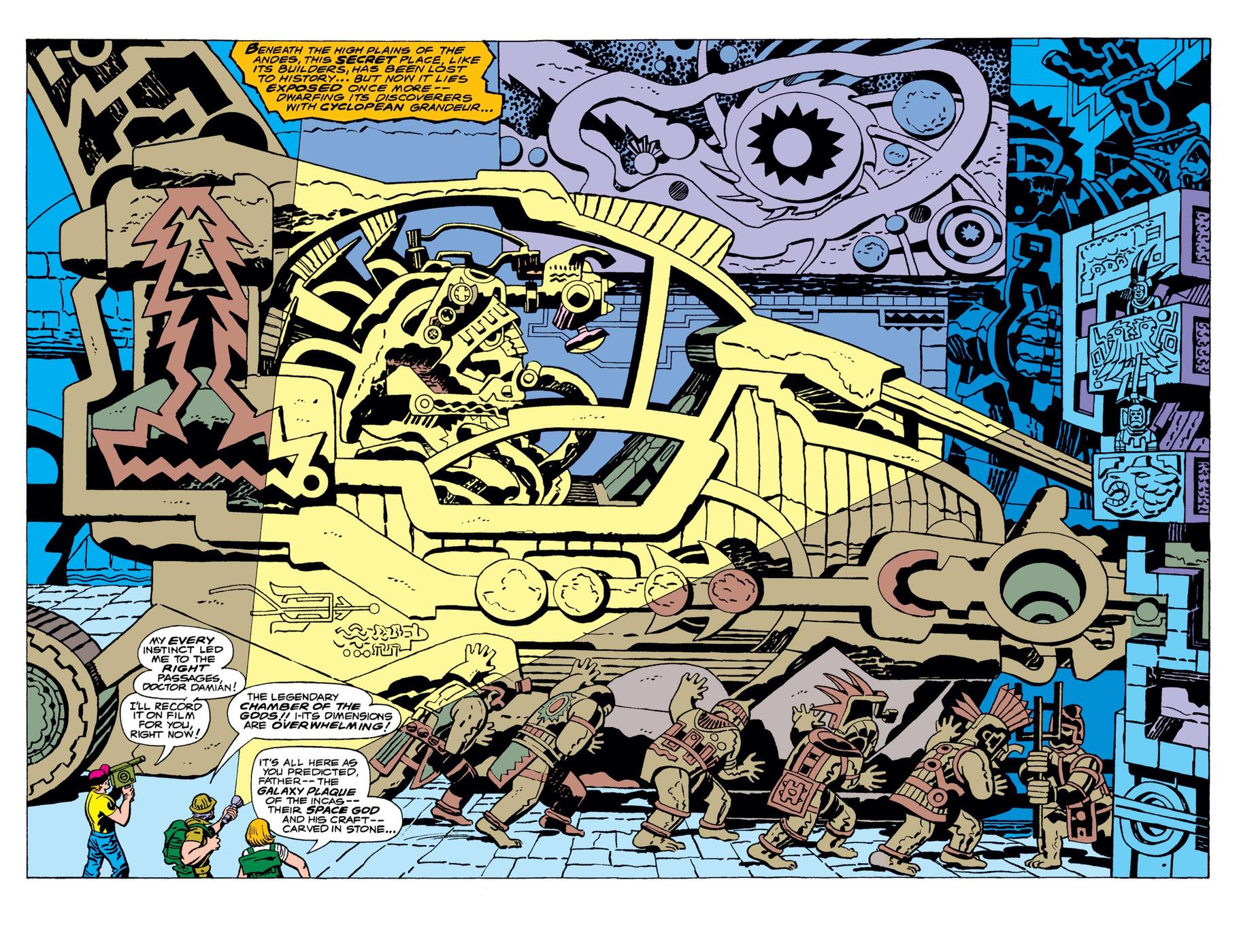 ETERNALS (1976) #1 interior by Jack Kirby