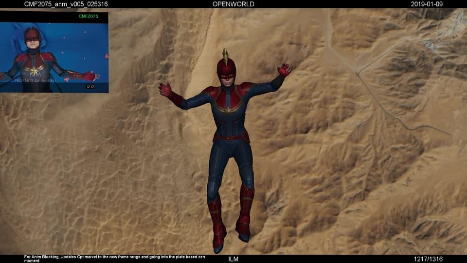 Captain Marvel VFX Fall